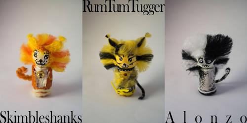 Skimble, Tugger and Alonzo Figures by SomeSkullio