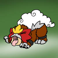 Puppy Entei by DragonwolfRooke
