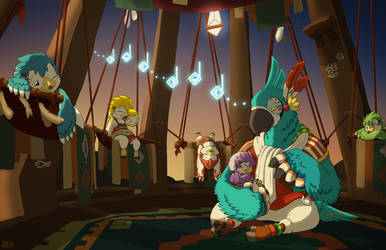 Kass's Lullaby - BOTW by DragonwolfRooke