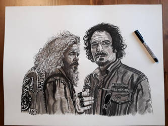Sons of Anarchy - Bobby and Tig by doom-chris
