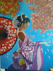 Geisha - Work in progress - oil on canvas by doom-chris