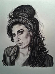 Amy-  Ink on paper by doom-chris