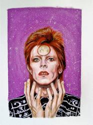 Bowie tribute - Aquarelle by doom-chris