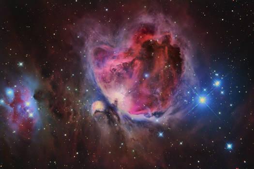 The Orion Nebula in HaRGB by turbulentvortex