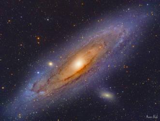 The Andromeda Galaxy by turbulentvortex
