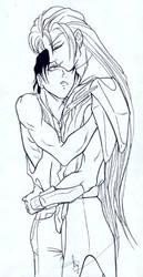 Lonely Embrace-- Ai no Kusabi by kurama-kuronue
