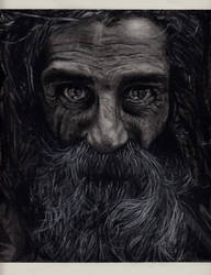 Mendicant in charcoal by Pusika3