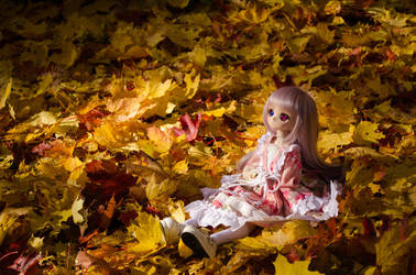 Eimii in the leaves by Migon21