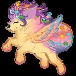 Sugar Rainbow Flies by celestialsunberry