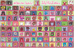 101 Character Challenge by Jelly-Filled-Zombies
