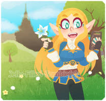 BOTW Zelda by Jelly-Filled-Zombies