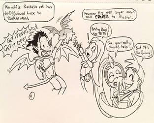Inktober 11: Cruel  by buzzthebatgirl