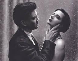 David Lynch and Isabella Rossellini by xabigal-eyesx