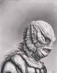 Creature of the Black Lagoon by xabigal-eyesx