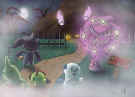 Ghostly Halloween by PokeGirl5
