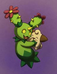 Greenie hug by PokeGirl5