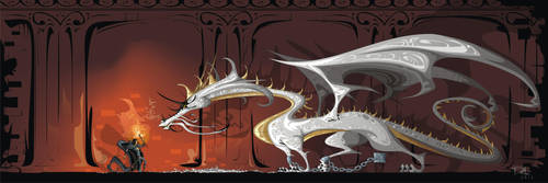 Quentyn Martell and Viserion by dejan-delic