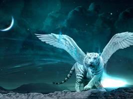 Winged Tiger by heyfudge