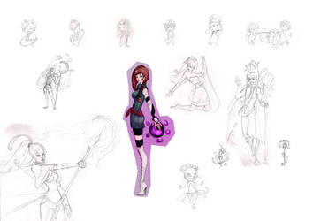 Collage of character designs 4 by baltheea