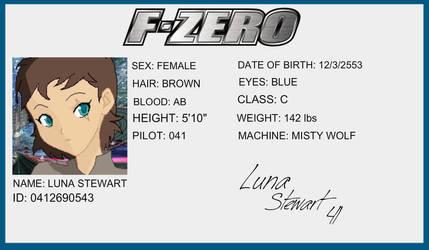 F-Zero License - Luna Stewart by Buttscottchpiie