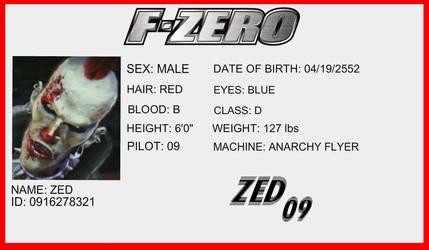 F-Zero License - Zed by Buttscottchpiie