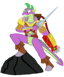 Spike The Dragon Guard by Bonaxor