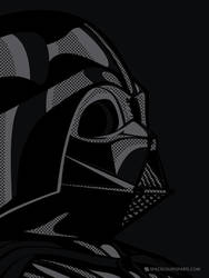 Star Wars PopArt - Vader black by Bergie81
