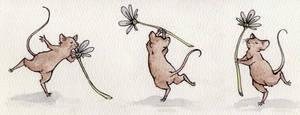 Card mice. by aofie-fionn