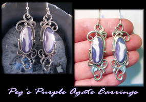 Peg's Purple Agate Earrings by jessa1155