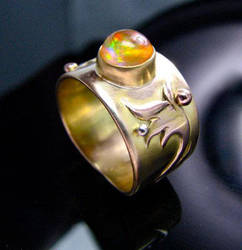 14K Fire Opal Ring II by jessa1155