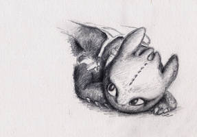 Toothless sketch by Samy110