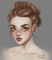 4-12-17 Experimental Portrait by VanillaDeonna