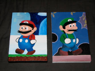 Super Mario Brothers by eatlikeair
