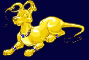 Gold Gelert by maomau