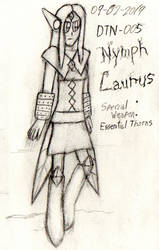 (TRAD ART) DTN-005: Nymph Laurus by Thunderblade2001