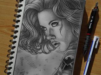Black Widow Sketch by Gem-D