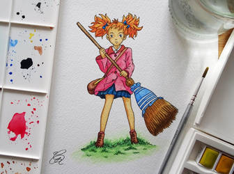 Mary Watercolour by Gem-D