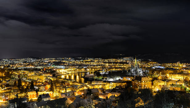 Trondheim at night by 2xaphoto