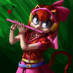 The Flute Playing Feline by KitlingLD