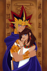 Yugi-oh: Yami and Teana by starxade