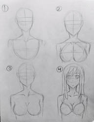 Anime | How to Draw Boobs: Step-By-Step by Jourd4n