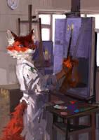 paints on a sleeve by LadyShalirin