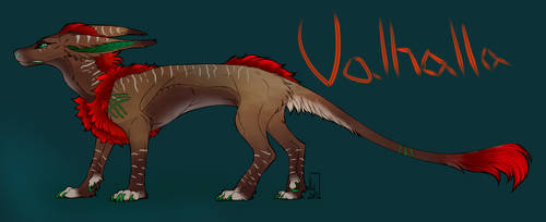 Valhalla the Vernid Reference Sheet by RudaWilczyca