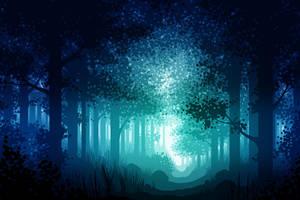 Forrest - blue by CarolinVogt