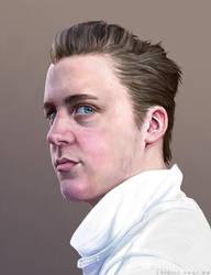 Portrait of Vince by CarolinVogt