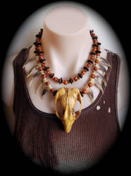 Tribal necklace by Genevieve-Amelia