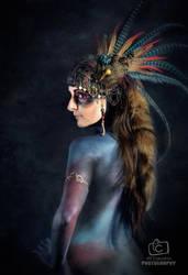 Tribal Portrait XII by Genevieve-Amelia