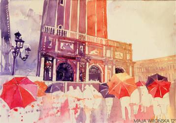 summer drizzle in Venezia by takmaj