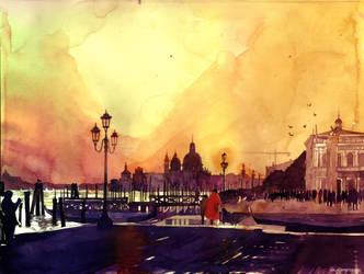 Sunset in Venezia by takmaj