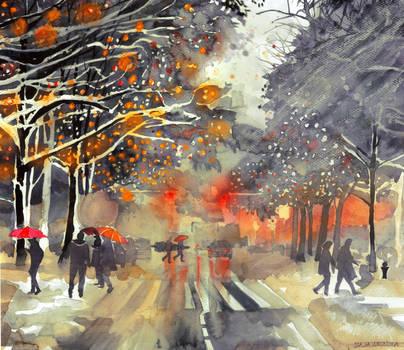 Winter in the city by takmaj